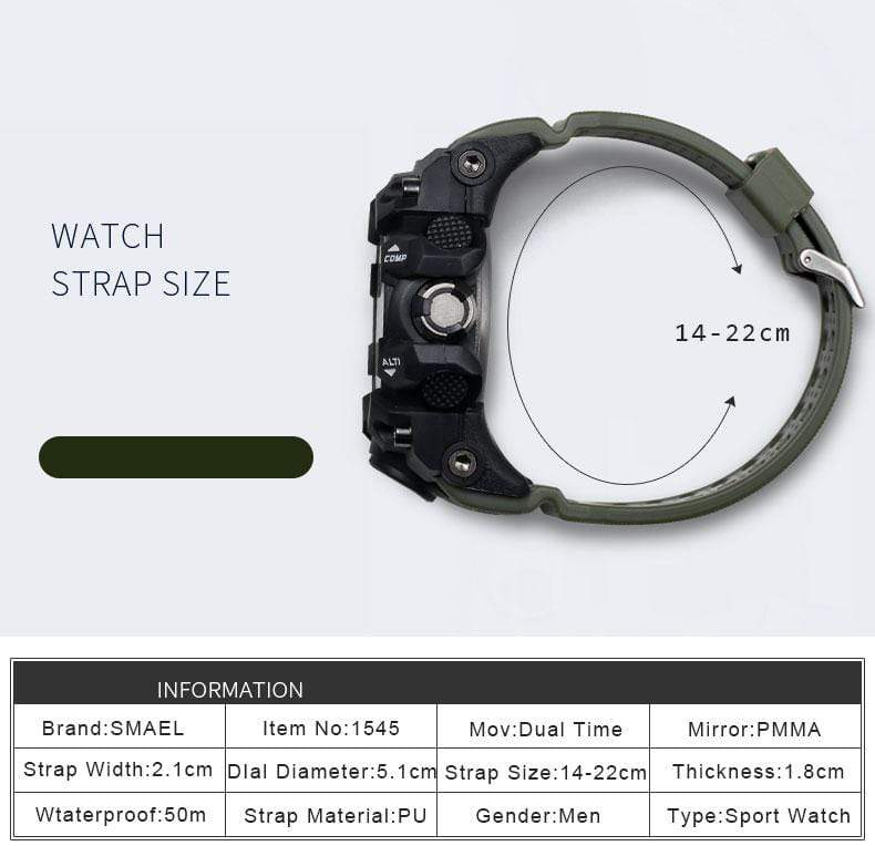 Mighty Shopping Store Men's Military Watch - 50m Waterproof