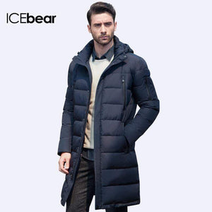 Mighty Shopping Store Men's Winter Long Coat ICEbear 2019 Long Thick Winter Coat