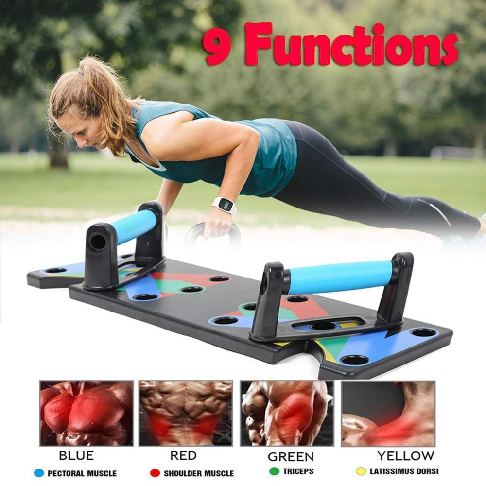 Mighty Shopping Store Push Up Rack 9 in 1 9 in 1 Push Up Rack Board Men Women Comprehensive Fitness Exercise Push-up Stands Body Building Training System Home Equipment