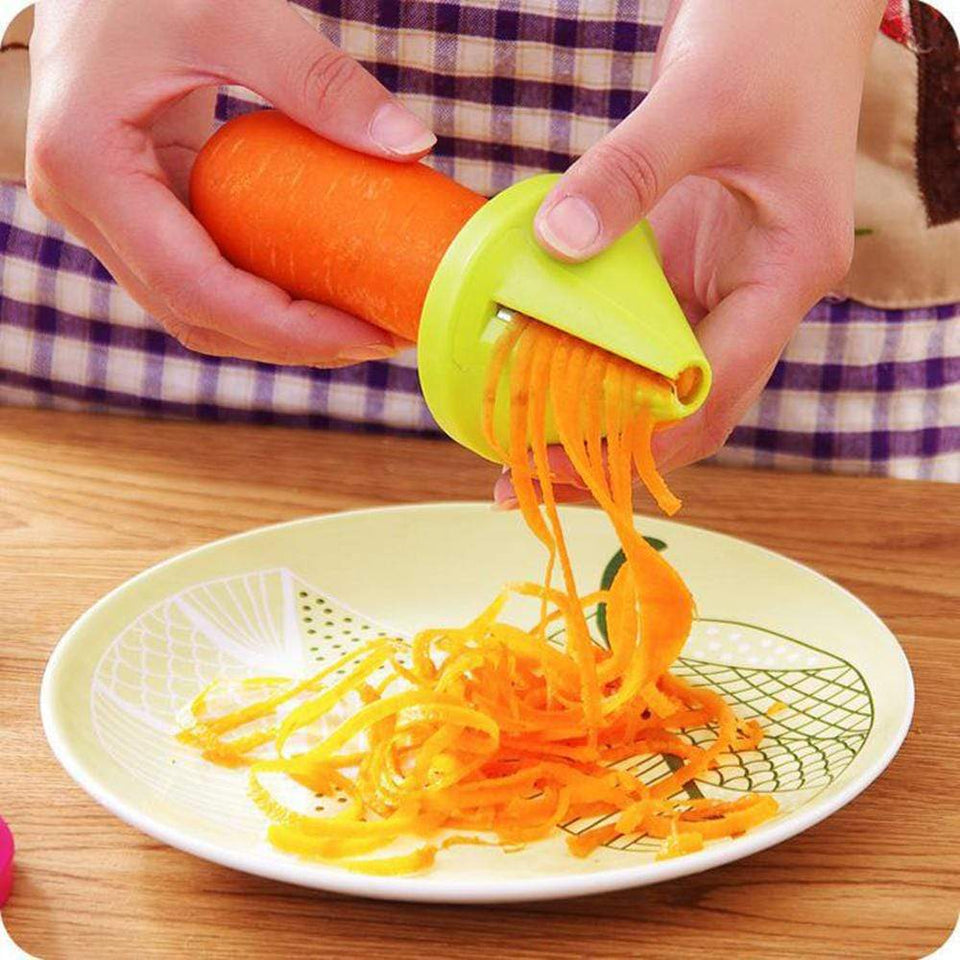 Mighty Shopping Vegetable Cutter Plastic Spiral Slicers