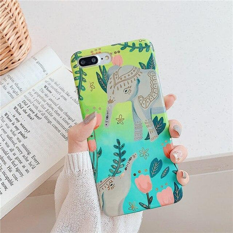 Coque Éléphant iPhone Tropicale