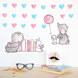 Stickers Coeur Rose