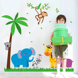 Sticker jungle chambre bébé
