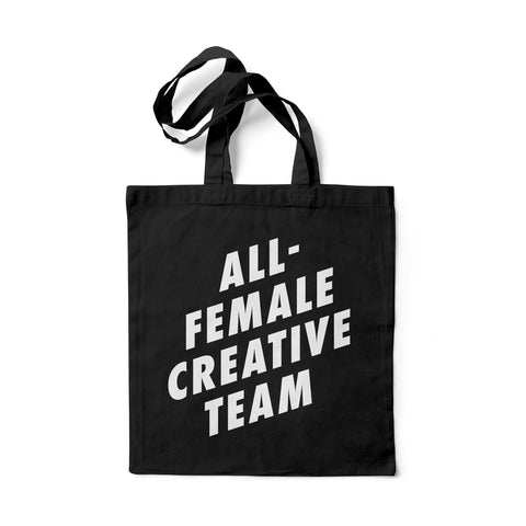 All-Female Creative Team Tote Bag (White)