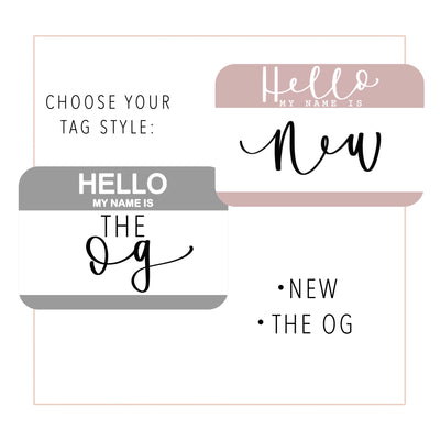 """Hello my Name is"" Baby Name Tags"