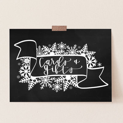 Gifts & Cards Sign | Winter