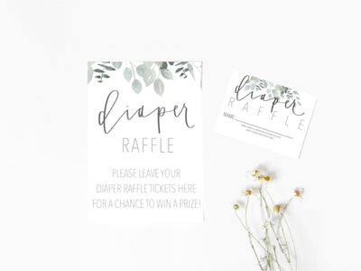 Diaper Raffle | Greenery