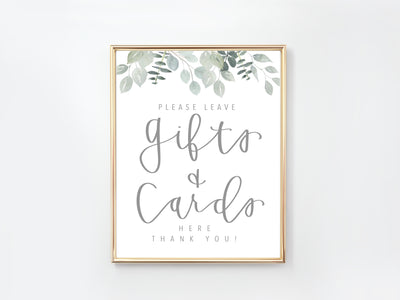 Gifts & Cards Sign | Greenery