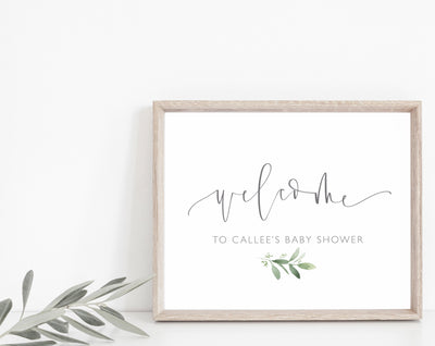 WELCOME SHOWER Sign| Greenery Shower| Baby | WEDDING Shower| Calligraphy| Custom Sign| Personalized| Maternity| Mom to Be| Instant Download