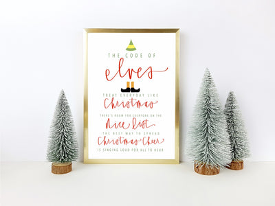 Buddy the elf print | ELF movie quote | The best way to spread christmas cheer | Printable | Modern calligraphy | Handwritten