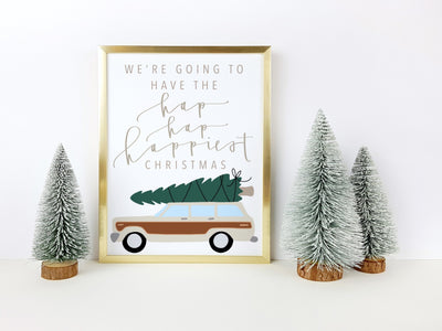 Christmas Vacation | Griswolds Christmas Print | Clark Griswold | Christmas printable sign | Calligraphy Christmas Sign |