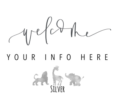 WILD ONE WELCOME Party Sign | First Birthday | Wild Animals Party | Safari | Zoo | Welcome Birthday Party | Bridal Shower