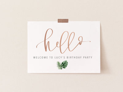 HELLO WELCOME Party Sign | Welcome Sign | Housewarming party | Baby Shower | Birthday Party | Baby | Bridal | Maternity | Digital Download