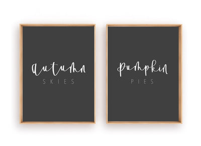 FALL | AUTUMN Skies PUMPKIN Pies | Autumn Decoration | Fall Print | Instant Download | Fall Sign | Fall home Sign | Modern Fall Sign