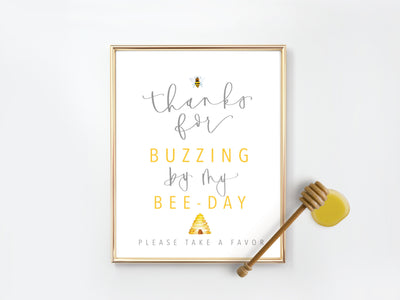 BEE-day Party FAVOR Sign | BIRTHDAY party | First birthday | Honey Bee Party | Party Favors | Instant Download | kids birthday | Digital