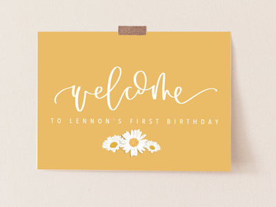 DAISY | WELCOME sign | wedding | First Beeday | One is sweet |  Digital Download | Daisy Party | baby shower | sprinkle | bridal shower
