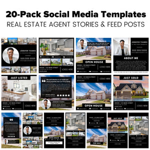 Elevated Agent Social Media Template 20-Pack