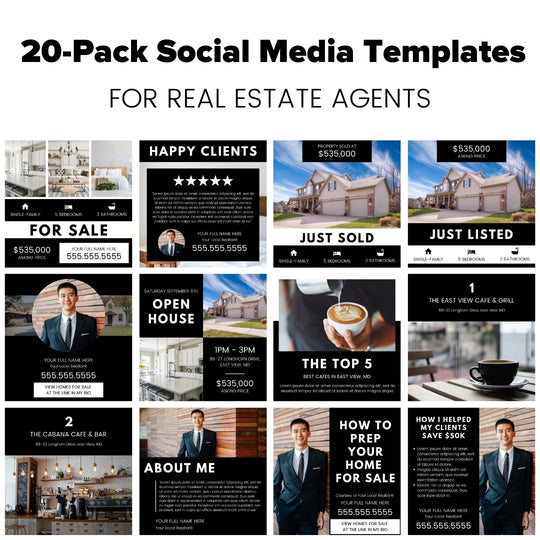 Bold Statement Social Media Template 20-Pack