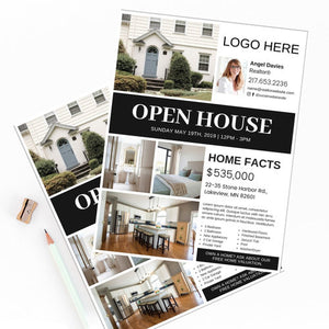 Real Estate Agent Open House Flyer Design Template 006