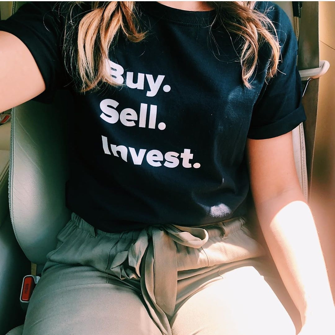 Unisex Buy. Sell. Invest. T-shirt