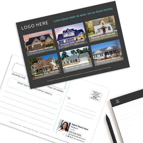Just Sold Real Estate Postcard - Design Template 01