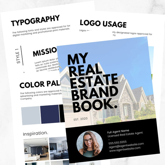 Real Estate Agent Branding Book Template