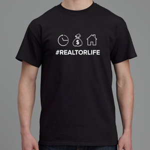 #RealtorLife T-Shirt-T-shirt-Design For Realtors