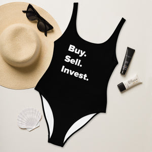 Buy. Sell. Invest. Women's One-Piece Swimsuit
