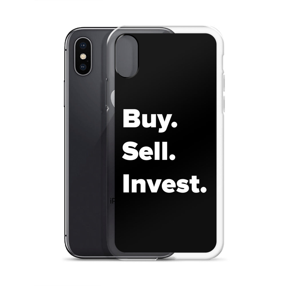 Buy. Sell. Invest. Real Estate iPhone Case