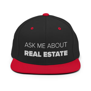Ask Me About Real Estate Snapback Hat