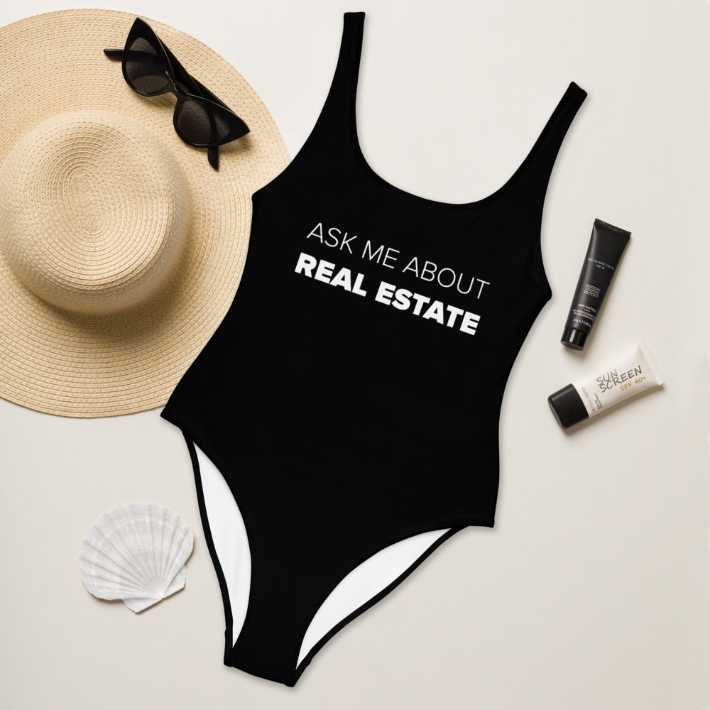 Ask Me About Real Estate Women's One-Piece Swimsuit