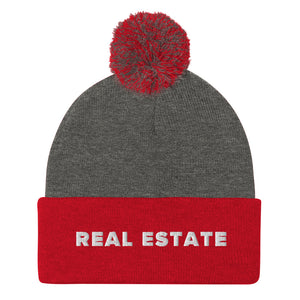 Real Estate Pom-Pom Beanie