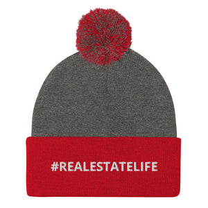 Real Estate Life Pom-Pom Beanie