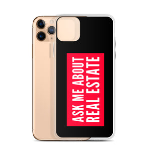 Ask Me About Real Estate Red iPhone Case