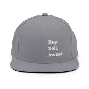 Buy. Sell. Invest. Snapback Hat