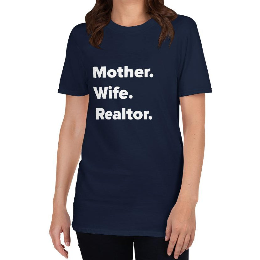 Mother. Wife. Realtor. T-shirt-T-shirt-Design For Realtors