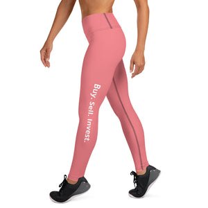 Rose Buy. Sell. Invest. High Waist Yoga Leggings