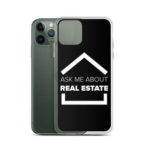 Ask Me About Real Estate Icon iPhone Case