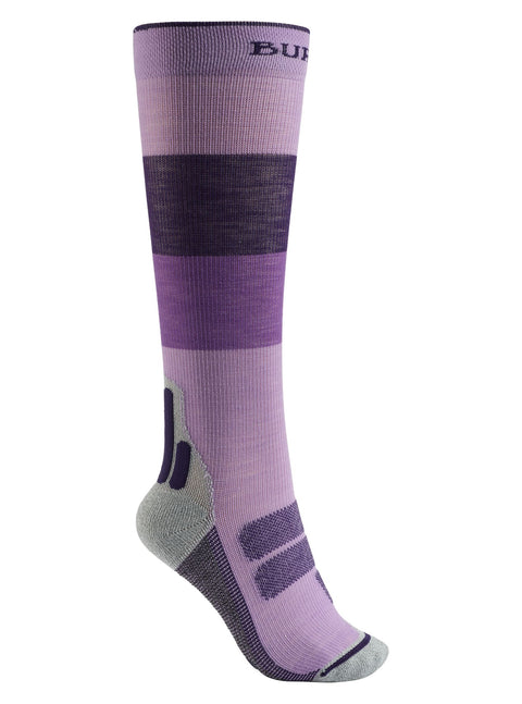 BURTON WOMENS PERFORMANCE + ULTRA LIGHT COMPRESSION SNOW SOCK