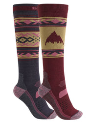BURTON WOMENS PERFORMANCE LIGHTWEIGHT 2 PACK SNOW SOCK