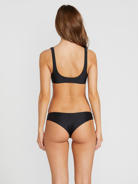 VOLCOM WOMENS SIMPLY SOLID CHEEKIN SWIM BOTTOMS