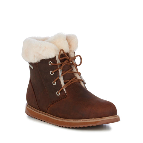 EMU SHORELINE LEATHER LO WOMENS SNOW APRE BOOT