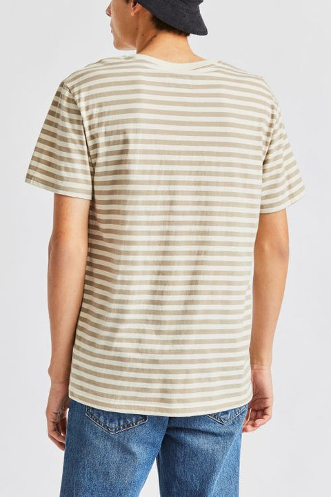 BRIXTON HILT MINI STRIPE SHORT SLEEVE KNIT