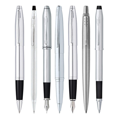 Luxury Silver Pens - Free Engraving on all Silver Pens and Sets