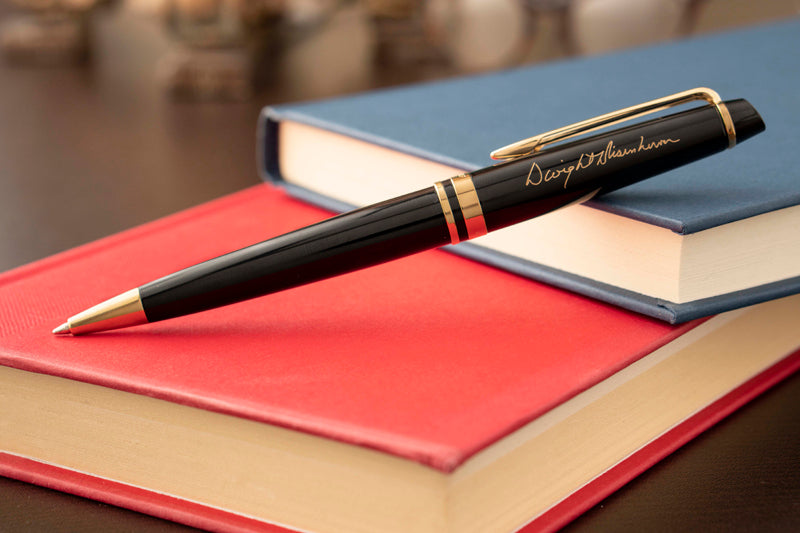 Waterman Expert Black Ballpoint with signature engraving