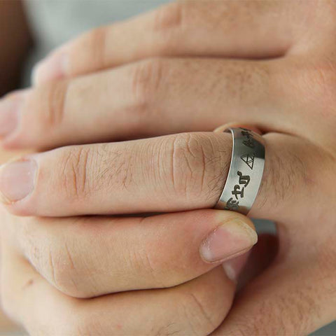 Silver Domed Ring with Personalization from EngraveCo