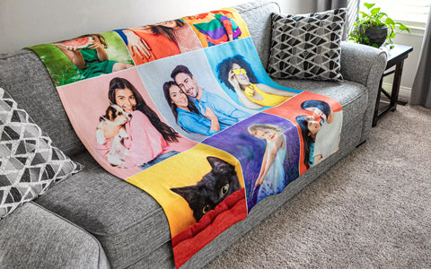 personalized Photo Blanket from Collage