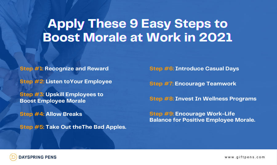 Apply These 9 Easy Steps to Boost Morale at Work