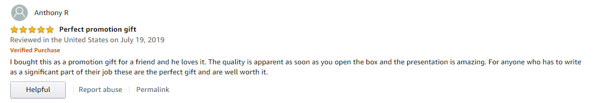 Anthony R. Customer Review