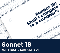 Sonnet 18 Shall I Compare Thee To a Summer's Day by William Shakespeare